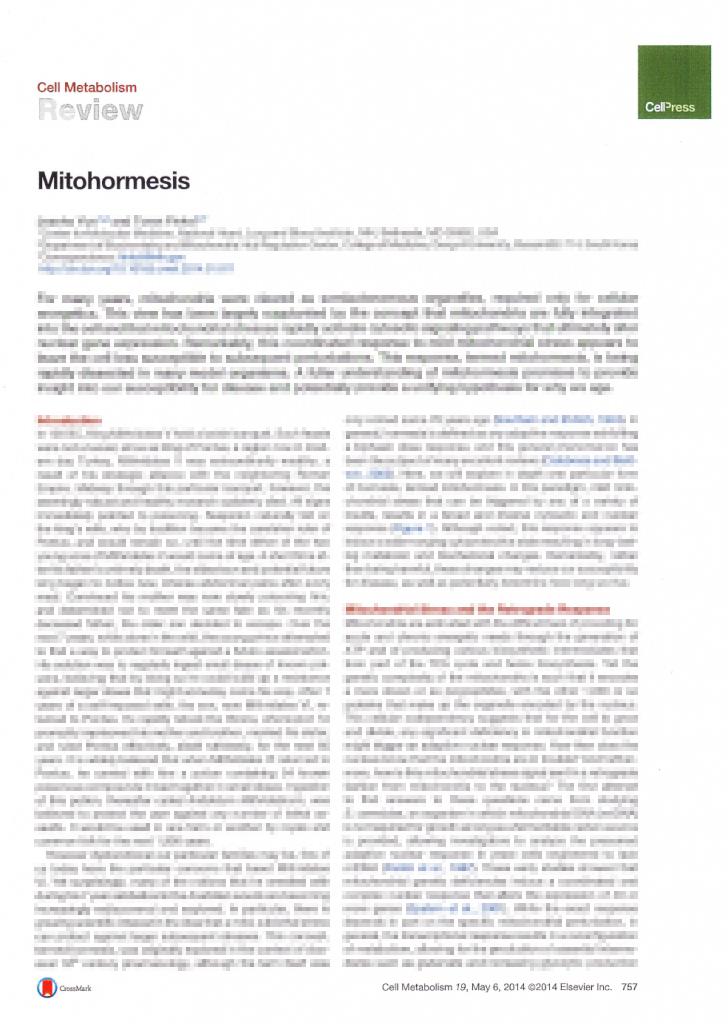 Mitohormesis